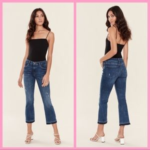 """DL1961   """"Lara"""" Mid-Rise Cropped Flare Jeans"""